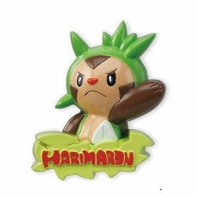 Pokemon wall badge collection 3 D Figure~W/Rubber Suction Cup~Chespin/Harimaron /gamaro/Marisson~~ Bandai