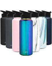 Simple Modern Summit Waterfles met herbruikbaar rietje - Hydro-vacuüm geïsoleerde 18/8 roestvrijstalen kolf met brede mond
