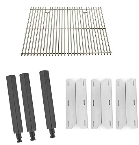 Grill Parts Zone Jenn Air 720-0163 Kit Includes Cast Burners, Heat Shields and Solid Stainless Grates