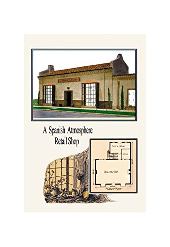 (Buyenlarge Spanish Atmosphere Retail Shop Print (Canvas Giclee 12x18))