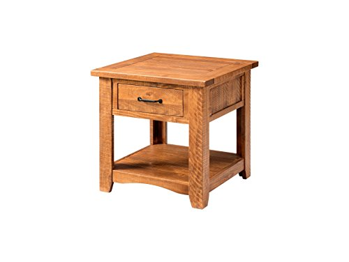 Martin Svensson Home 890137 Rustic End Table Honey Tobacco