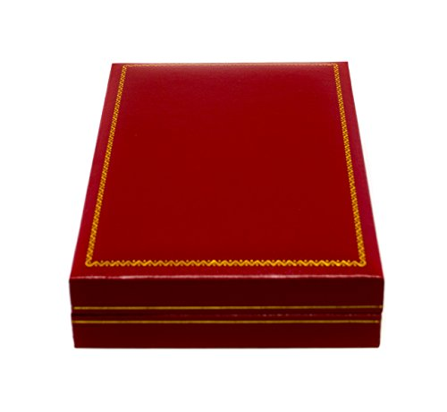 (Novel Box Jewelry Necklace Box in Red Leather + Custom NB Pouch)