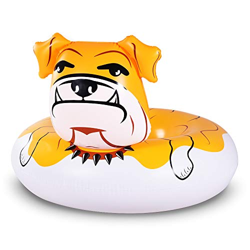 WATEBOM 불독 플로트 53 인치 거대한 풍선 수영장 플로트 튜브 파티 여름 재미 수영장 장난감 성인과 아이