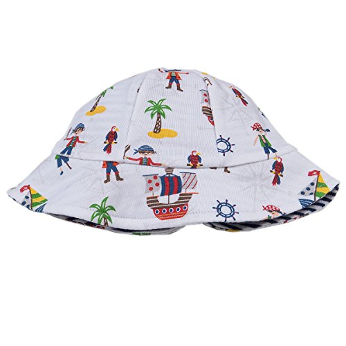 Kissy Kissy Baby Boys Buccaneers Reversible Sunhat-Large ()