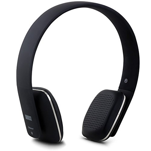 August EP636 Bluetooth Headphones - Black - On Ear Wireless Headset with...