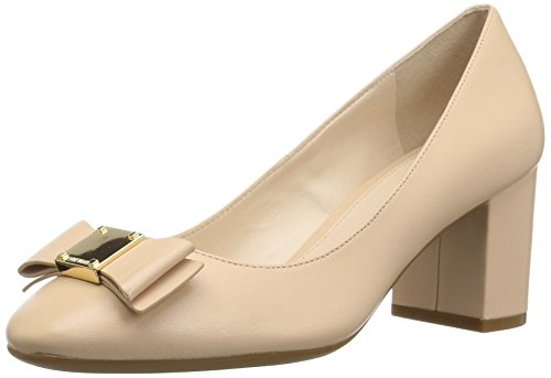 Cole Haan Women's Tali Bow Pump, Nude Leather, 5.5 B US