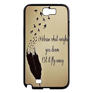 Feather Quote Fly Personalized For Case HTC One M7 Cover ,customized phone case ygtg615959