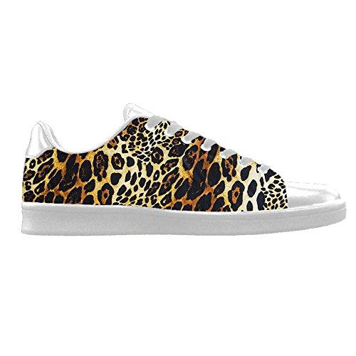 Custom Leoparden print Mens Canvas shoes Schuhe Lace-up High-top Sneakers Segeltuchschuhe Leinwand-Schuh-Turnschuhe B