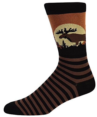 Sock It To Me Moose Mens Crew Socks - Pop Culture Costumes Ideas