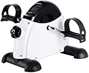 OneTwoFit Mini Exercise Bike Portable Pedal Exerciser Legs and Arms Fitness Cycling with LCD Display for Senio