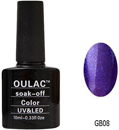 oulac UV LED Gel auflösbarer esmalte de uñas – GB08, 1er Pack (1 x 10 ml): Amazon.es: Belleza