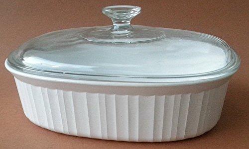Corningware F-2-B 2.8 Liter Casserole Ovenware Dish w/ Clear Glass Lid