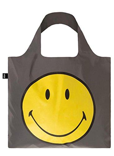 LOQI Reflective Smiley Tote Bag