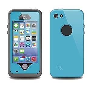 JJE Cool Airtight Tough Protective Waterproof Plastic Case for iPhone5S Fingerprint (Assorted Color) , Dark Blue