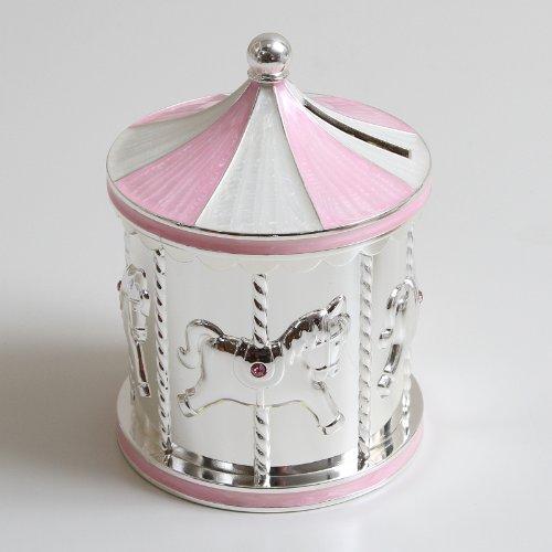Spardose Pferdekarussell - rosa