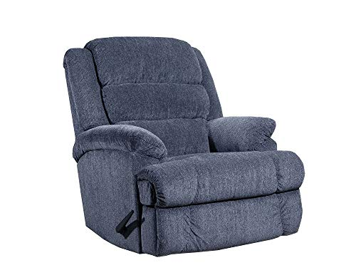 (Lane Knox Big Man Comfort King Wallsaver Recliner in Steel Grey. (Free Curbside Delivery.) Made for The Large Man Or Woman. Holds Weights of up to 500 Lbs. Extended Length 79 Inches. 4502)