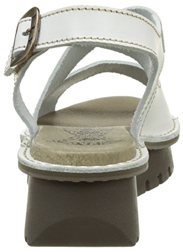 FLYA4|#Fly London Kimb456fly, Heels Sandals para Mujer Blanco (Off White 002)