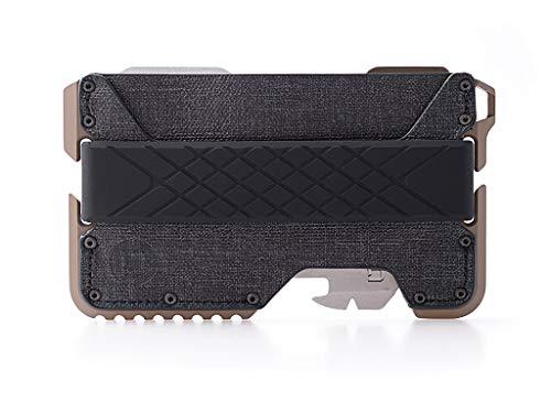 Dango T01 Tactical EDC Wallet - Made in USA - Genuine Leather, Multitool, RFID Block (Spec Ops - Black/Desert Sand + MT02 Multi-Tool)