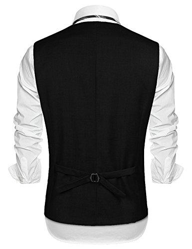 COOFANDY Mens Dress Vest Formal Business Waistcoat One Button Slim Fit Suit Vest by COOFANDY (Image #3)