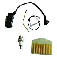 JRL Ignition Coil Air Filter Spark Plug Set Fit Husqvarna 362 365 371 372 Chainsaw