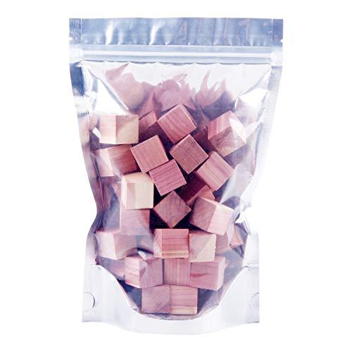 Cedar Balls for Closets Storages, 100% Natural Aromatic Red Cedar Wooden Balls (40 Pcs Cedar Cubes)