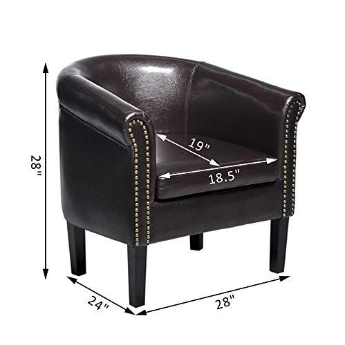 Awe Inspiring Amazon Com Festnight Vintage Club Chair Faux Leather Tub Frankydiablos Diy Chair Ideas Frankydiabloscom