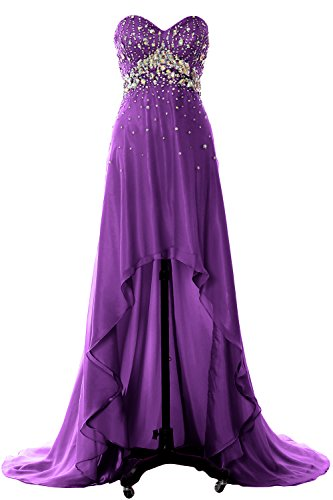 Crystal Prom Party Homecoming Evening MACloth Lo Women Dress Formal Violett Gown Hi Long twqXf1q