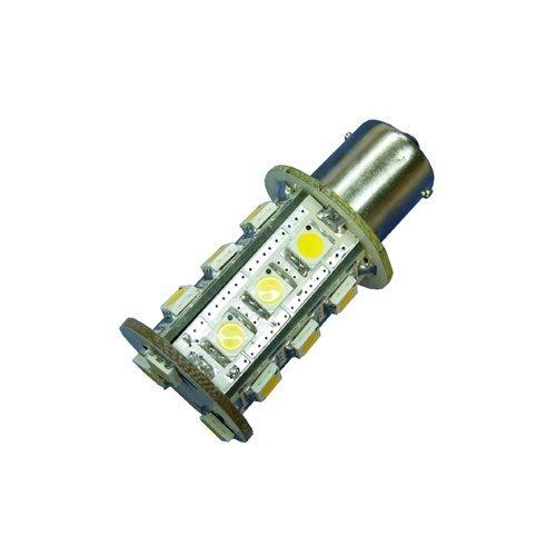Ledwholesalers Miniature Bulb BS15S 1156 Base Single Contact Bayonet 8-30 Volt 18 x 5050 SMD LED 3.6w Warm White, 1419WW