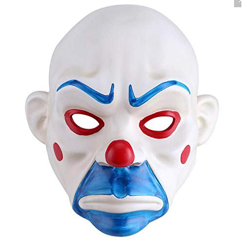 HSCC Halloween Costumes Knight Joker Adult Clown Cosplay Purge Face Resin Mask -