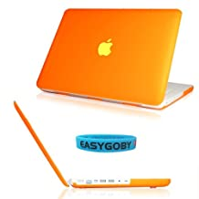 "Easygoby Matte Frosted Hard Shell Case Cover for 13-inch White Unibody MacBook 13"" (Model: A1342 / Released after Oct. 2009) - Orange"