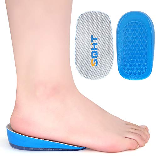 SQHT Height Increase Insoles - 1 Inch Heel Lift for Achilles Tendonitis, Heel Pain and Leg Length Discrepancy, Shoe Inserts for Men and Women (1'' Height)