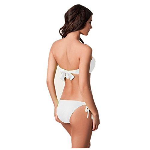 o-c la nueva superior de las mujeres Bikini Sets Blanco