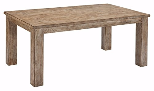 Ashley Furniture Signature Design - Mestler Dining Room Table - Farm Table Style and Rectangular - Vintage Casual - Bisque