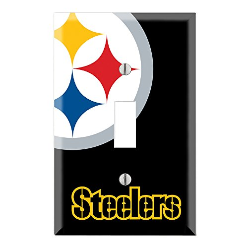 Bedroom Cover Outlet (Single Toggle Wall Switch Cover Plate Decor Wallplate - Steelers)