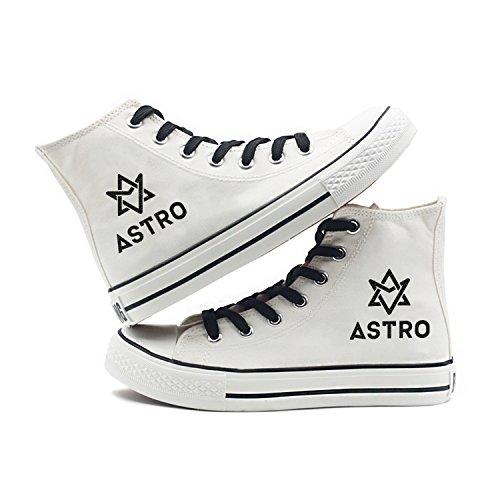 Fanstown Kpop Sneakers Canvas Schoenen Dames Wit Fanshion Memeber Hiphop Style Support Voor Fans Met Lomo Card Astro