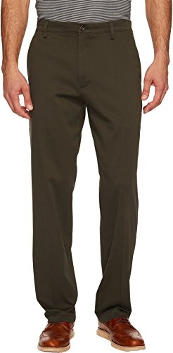 Dockers Easy Khaki D3 Classic-Fit Flat-Front Pant, Olive Grove, 32 34