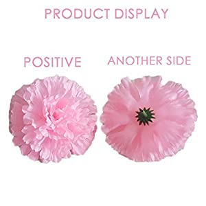 Allywit Artificial Flowers Bouquets Fake Silk Carnation Flowers for Home Wedding Party Mother's Day Decorative Gift 4