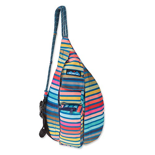 (KAVU Mini Rope Sling Bag Crossbody Shoulder Polyester Backpack - Chroma Stripe)