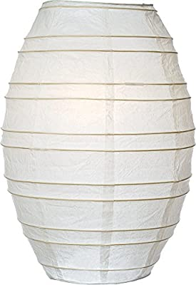 Luna Bazaar Cocoon Premium Paper Lantern, Clip-On Lamp Shade (10-Inch, White) - For Home Decor, Parties, and Weddings