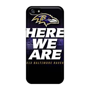 Kingsbeatiful 4s Scratch-proof protective case cover For Iphone/ I1wdfYFguXU Hot Baltimore Ravens cell phone case cover