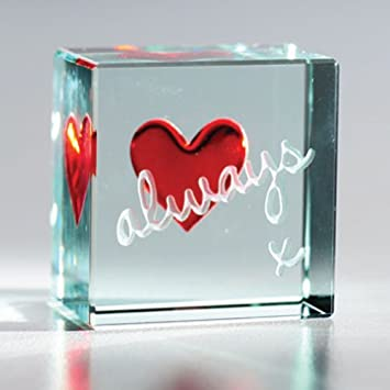 SPECIAL FRIEND@HEART SHAPED Glass Plaque@RED ROSE@LOVE@Gift@FRIENDSHIP keepsake