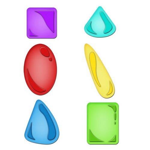 Spellbinders S5-098 Shapeabilities Jewel Stones Die Templates (Jewel Shapeabilities)