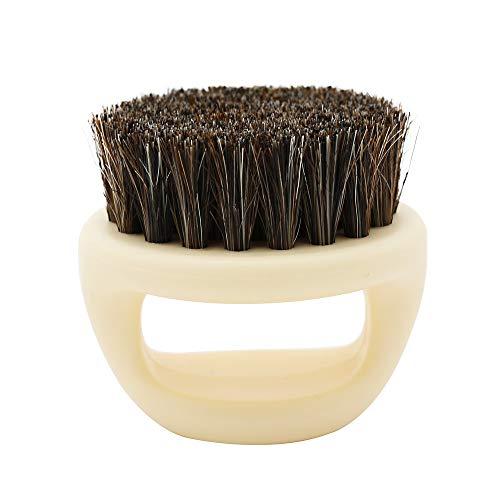 XUANOU Men Shaving Brush Best Horsehair Shave Wood Handle Razor Barber Tool (Copper Powder Foundation)