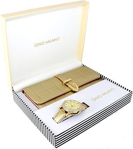 Women's Matching Watch & Wallet Gift Set - Gold