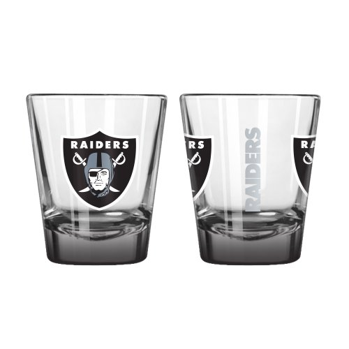(Boelter Brands NFL Oakland Raiders Elite Shot Glass, 2-Ounce, 2-Pack)