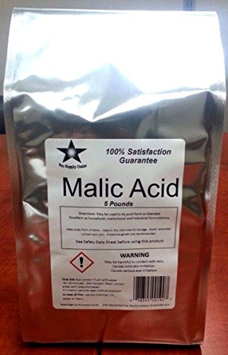 Malic Acid FCC/ USP Grade 5 Lb Pack (9906)