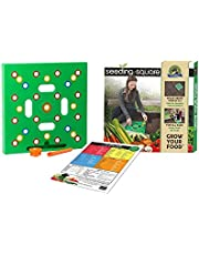 Square Foot Gardening Template by Seeding Square – Garden Seed Planter Tool Kit comes with Everything You Need: Square Foot Seed Spacing Template & Seed Ruler & Seed Spoon & Color Coded Planting Guide