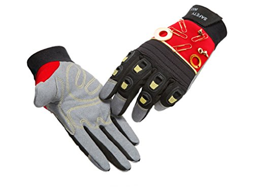 SAFETY-INXS Mechanic Gloves Industrial Work Anti Impact, Full Finger Safety Work Gloves with Knuckle Protection| Embedded Magnets, Cycling Gloves Breathable, Washable by SAFETY-INXS