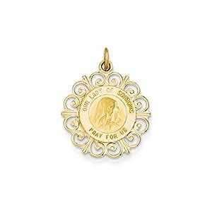 14ct colgante medalla Virgen de los Desamparados - JewelryWeb
