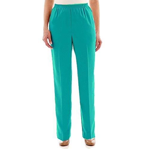 Verde Azulado Pantalones Gab Medium Pant Poly Alfred Dunner Proportioned Mujer axTB8